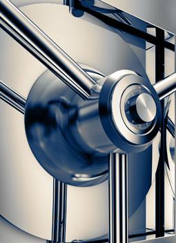 Image of a modern bank safe